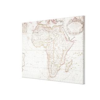 Mapa de África Impresión En Lienzo