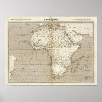 Mapa de África Impresiones