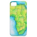 Mapa de África iPhone 5 Fundas