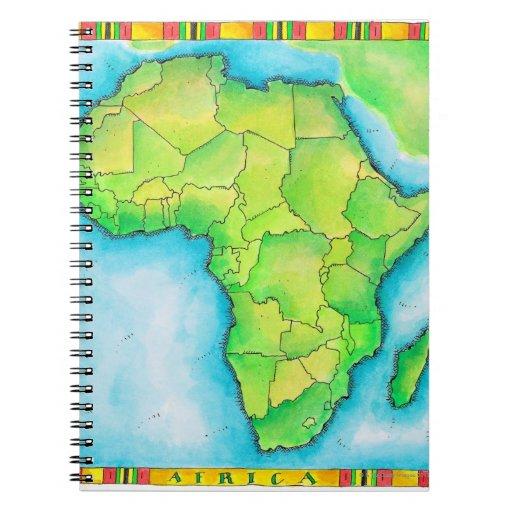 Mapa de África Libretas