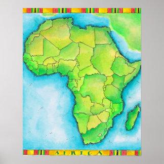 Mapa de África Poster
