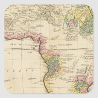 Mapa de África Pegatina Cuadrada