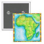 Mapa de África Pin Cuadrado