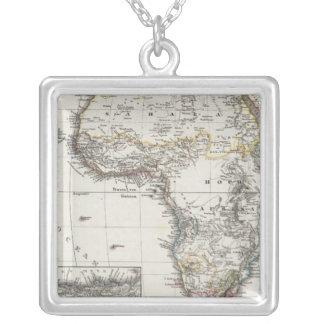 Mapa de África por Stieler Colgante Cuadrado