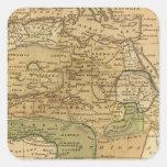 Mapa de África por Worcester Pegatina Cuadrada