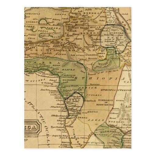 Mapa de África por Worcester Postales