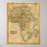 Mapa de África por Worcester Póster