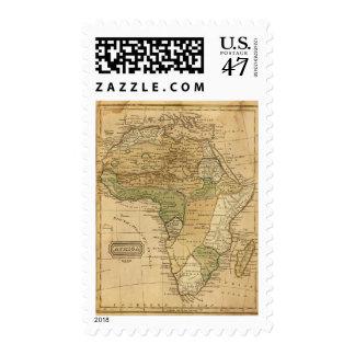 Mapa de África por Worcester Timbres Postales