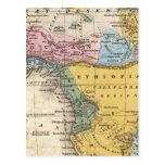 Mapa de África Postales