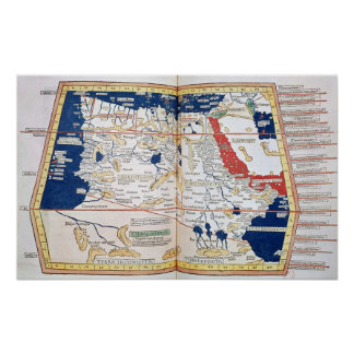 Mapa de África Póster