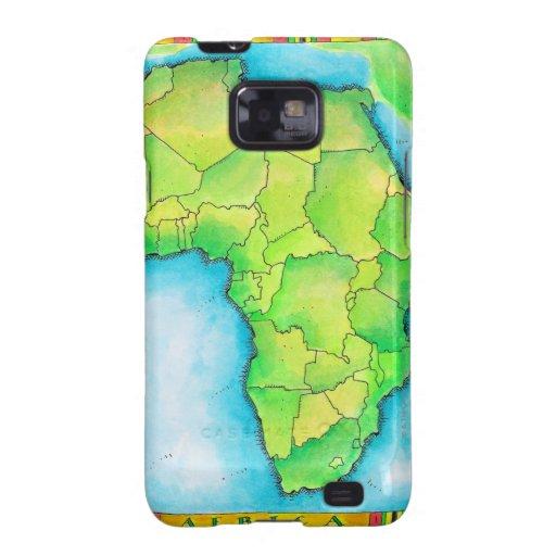 Mapa de África Samsung Galaxy S2 Carcasas