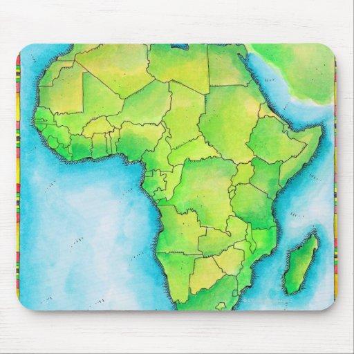 Mapa de África Tapetes De Ratón