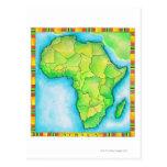 Mapa de África Tarjeta Postal