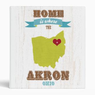Mapa de Akron Ohio - casero es donde está el cora