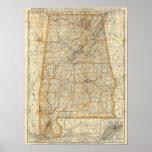Mapa de Alabama Impresiones