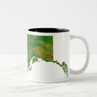 Mapa de Alaska 2 Taza De Dos Tonos