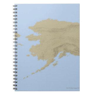 Mapa de Alaska 3 Libros De Apuntes