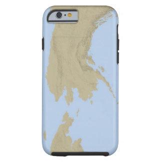 Mapa de Alaska 3 Funda De iPhone 6 Tough