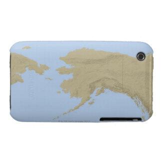Mapa de Alaska 3 iPhone 3 Case-Mate Cobertura
