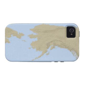 Mapa de Alaska 3 Case-Mate iPhone 4 Carcasas
