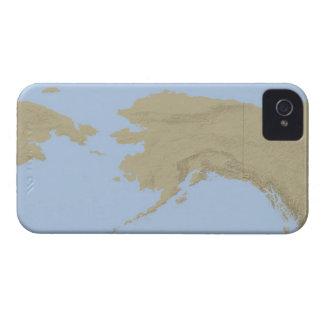 Mapa de Alaska 3 Case-Mate iPhone 4 Cárcasas