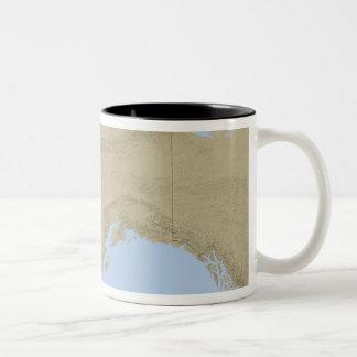Mapa de Alaska 3 Taza De Dos Tonos