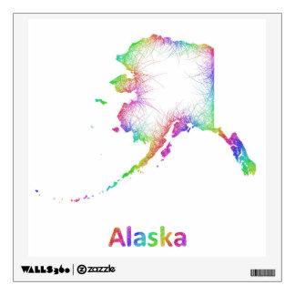 Mapa de Alaska del arco iris Vinilo