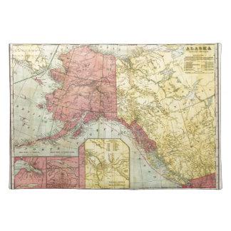 Mapa de Alaska del vintage Manteles