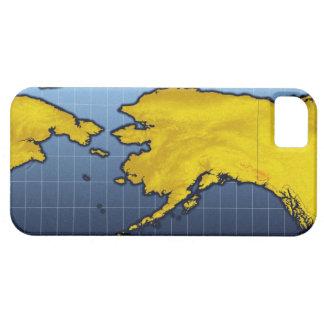 Mapa de Alaska iPhone 5 Carcasa