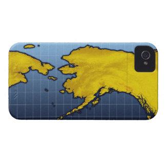 Mapa de Alaska iPhone 4 Case-Mate Cárcasas