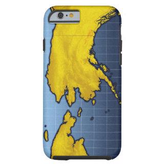 Mapa de Alaska Funda Para iPhone 6 Tough