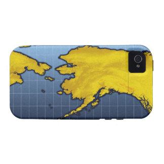 Mapa de Alaska iPhone 4/4S Carcasas