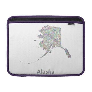 Mapa de Alaska Funda Macbook Air