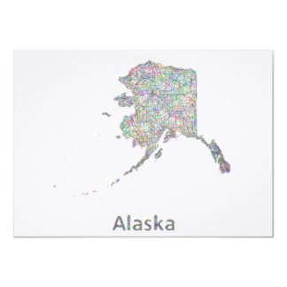 "Mapa de Alaska Invitación 4.5"" X 6.25"""