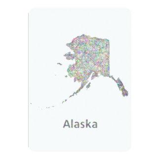 "Mapa de Alaska Invitación 5"" X 7"""