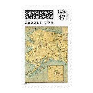 Mapa de Alaska Sello Postal