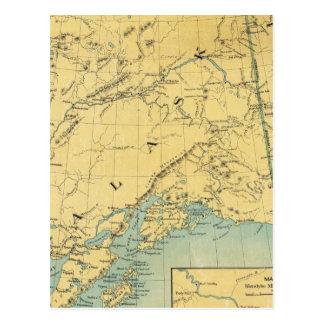 Mapa de Alaska Tarjetas Postales