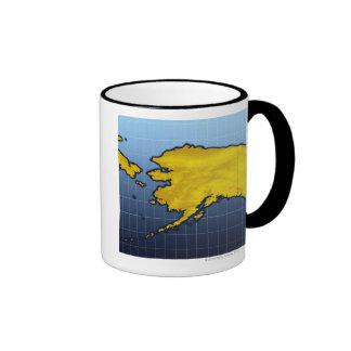 Mapa de Alaska Taza De Dos Colores