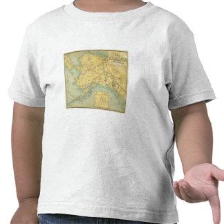 Mapa de Alaska Camisetas