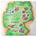 Mapa de Alemania Azulejos