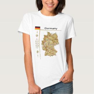 Mapa de Alemania + Bandera + Camiseta del título Remeras