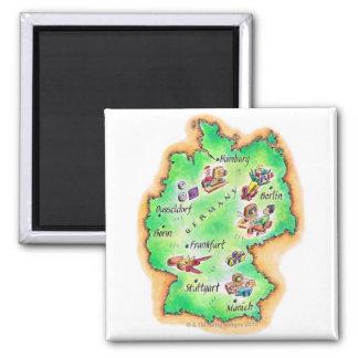 Mapa de Alemania Imán Cuadrado