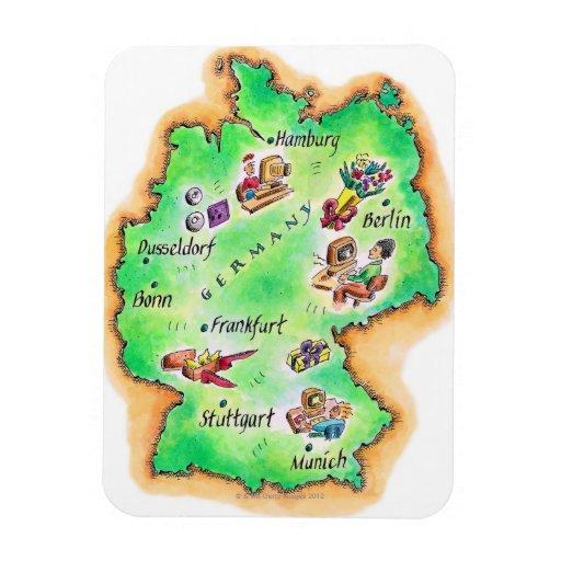Mapa de Alemania Iman De Vinilo