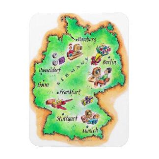 Mapa de Alemania Imán Rectangular