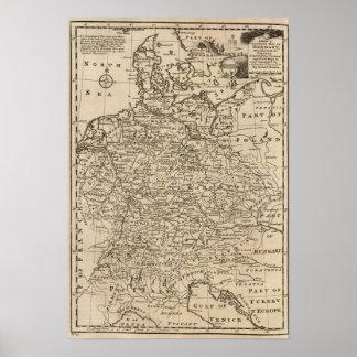 Mapa de Alemania Impresiones