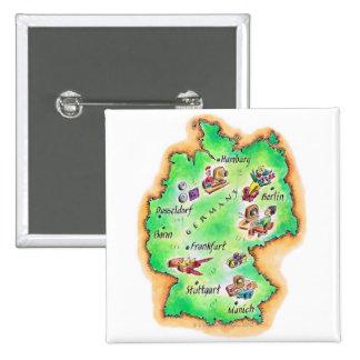 Mapa de Alemania Pin Cuadrado