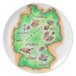 Mapa de Alemania Plato