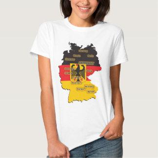 Mapa de Alemania Remera