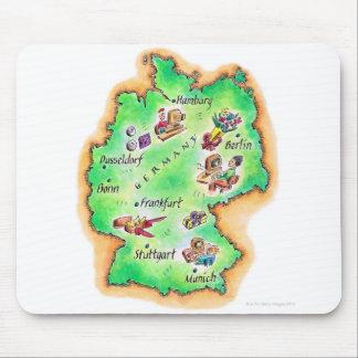Mapa de Alemania Alfombrilla De Ratones
