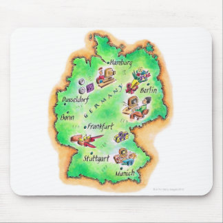 Mapa de Alemania Tapete De Raton